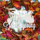 Happy Thanksgiving Door Wreath Sign - Wedding Decor Gifts