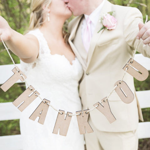 """Thank You"" Banner - Wedding Decor Gifts"