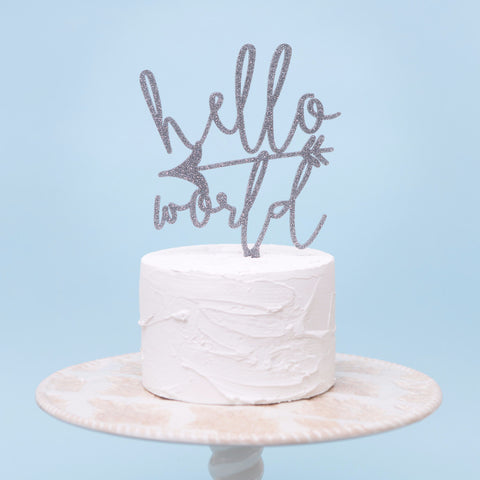 Hello World Baby Cake Topper - Wedding and Gifts