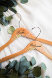 Geo Floral Personalized Wooden Wedding Hangers - Wedding Decor Gifts