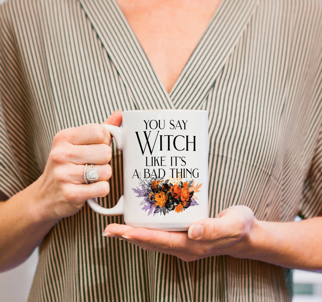 Halloween Mug, Funny Mug, Fall Gift, Cute Coffee Mug, Witch, Gift for Her, Halloween Decor