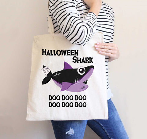 Halloween Candy Bag for Kids & Baby, Halloween Shark Baby, Halloween Tote Bag Cute Candy Bags Toddlers, Shark Baby Fall Halloween
