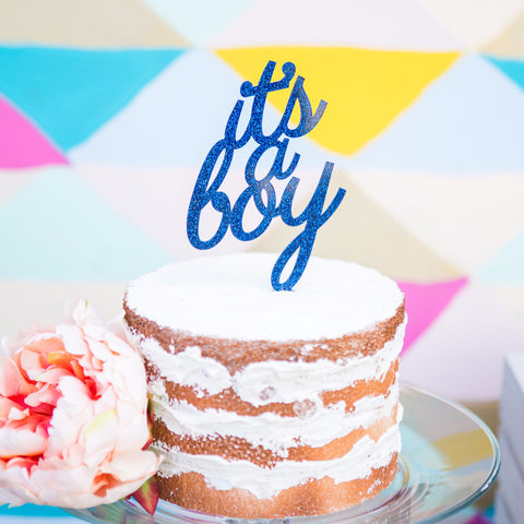 It's a Boy Cake Topper for Baby Shower - Wedding and Gifts