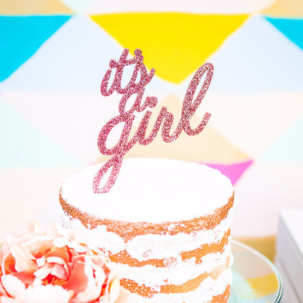 It's a Girl Cake Topper for Baby Shower - Wedding Decor Gifts