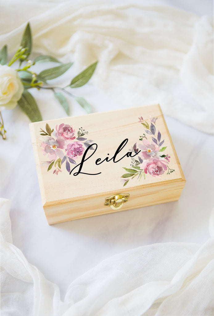 Flower Girl or Bridesmaids Gift Box Jewelry Box - Wedding Decor Gifts