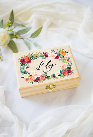 Flower Girl or Bridesmaids Gift Box - Wedding Decor Gifts