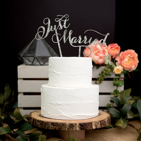 """Just Married"" Wedding Cake Topper - Wedding Decor Gifts"