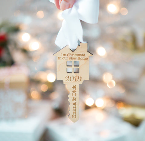 Our First Home Christmas Ornament - Wedding Decor Gifts