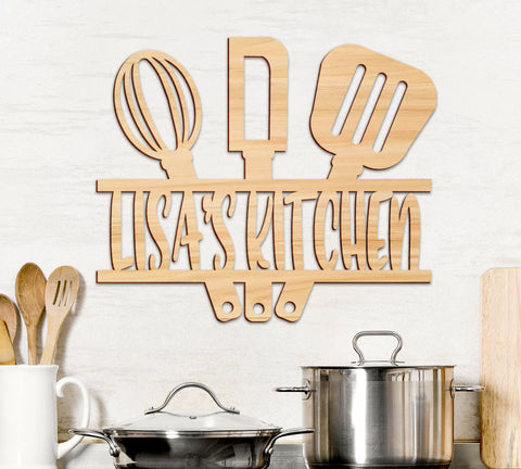 Kitchen Wall Decor Personalized Name, Kitchen Decor