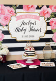 Striped Party Backdrop Sign - Wedding Decor Gifts