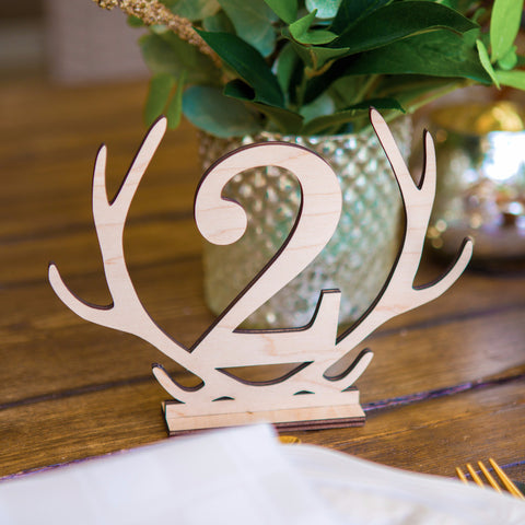 Antler Table Numbers - Wedding Decor Gifts