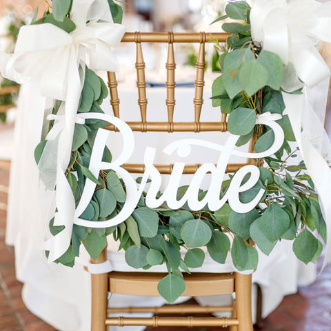 Bride and Groom Wedding Chair Signs - Wedding Decor Gifts