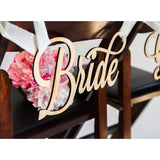 bride sign, wooden bride, accessories for chairs