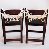 chair signs, bride and groom signs, chair decor