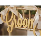 Bride & Groom Wedding Chair Signs - Wedding and Gifts