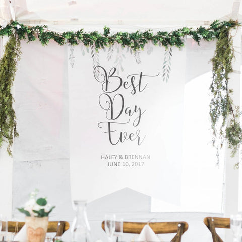 Personalized Wedding Backdrop Leaves - Wedding Decor Gifts