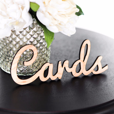 """Cards"" Word Cutout - Wedding Decor Gifts"