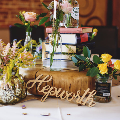 Custom Wooden Word Cutouts - Wedding Decor Gifts