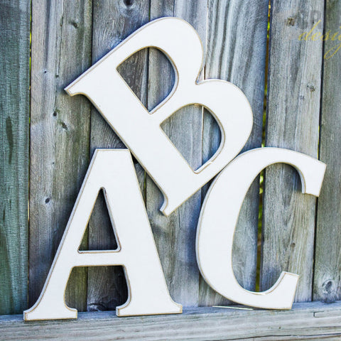 12 Inch Large Wooden Letter