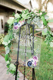 Personalized Clear Acrylic Wedding Sign - Wedding Decor Gifts