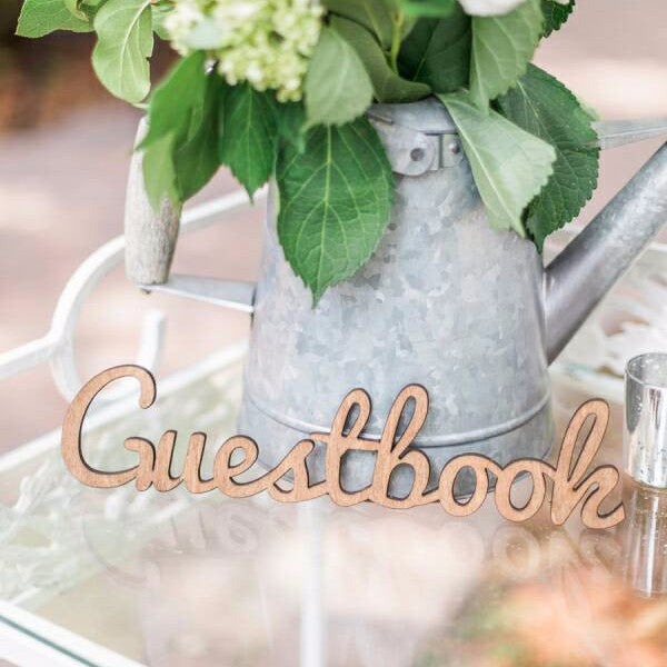 Guestbook Sign Cutout - Wedding Decor Gifts