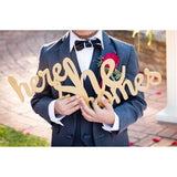 """Here She Comes"" Wedding Ceremony Sign - Wedding Decor Gifts"