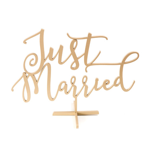 "Standing Wedding Sign ""Just Married"" - Wedding Decor Gifts"