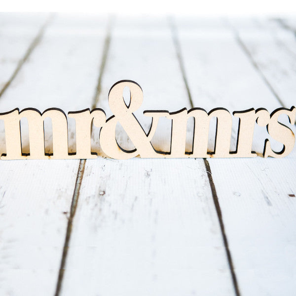 Mr & Mrs Rustic Wooden Sign - Wedding Decor Gifts