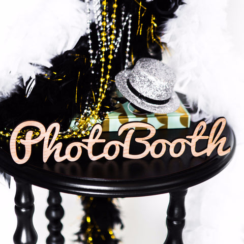 PhotoBooth Wooden Word Cutout for Wedding or Party - Wedding Decor Gifts