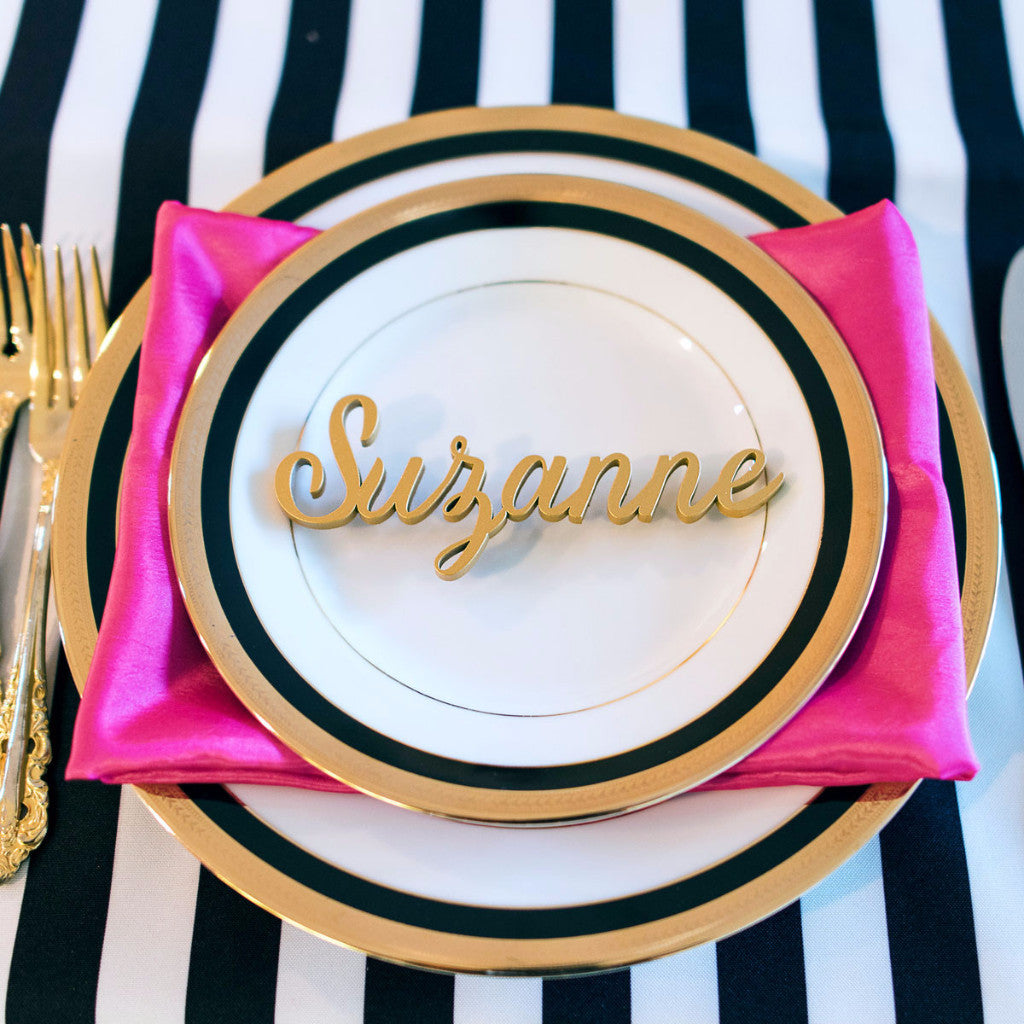 Wooden Place Card Name Cutouts