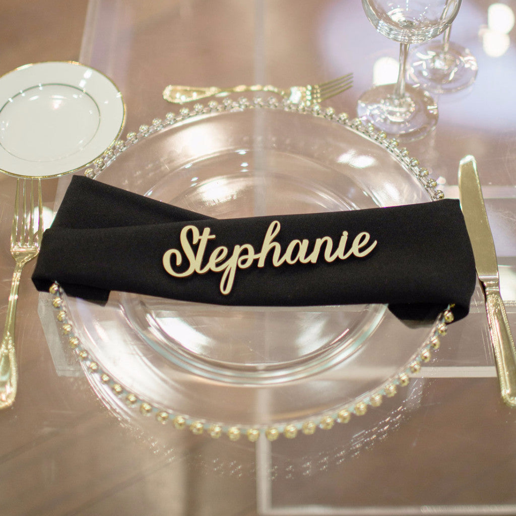 Place Card Name Cutouts - Wedding Decor Gifts