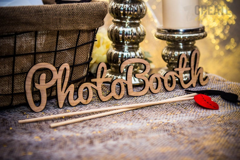 Photobooth Sign for Wedding or Party - Wedding Decor Gifts