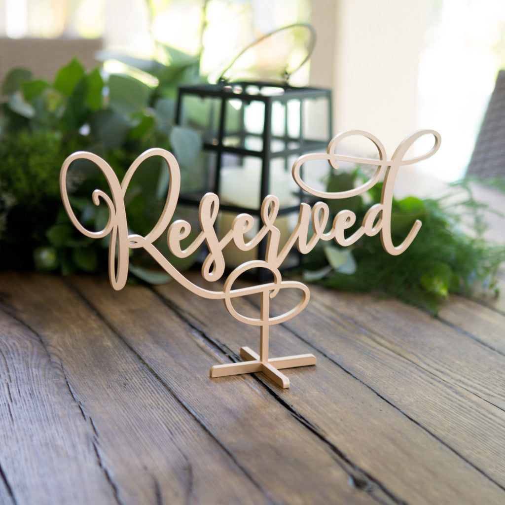 Reserved Table Sign - Wedding Decor Gifts