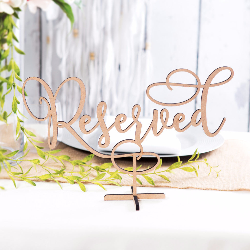 Standing Reserved Table Sign - Wedding Decor Gifts