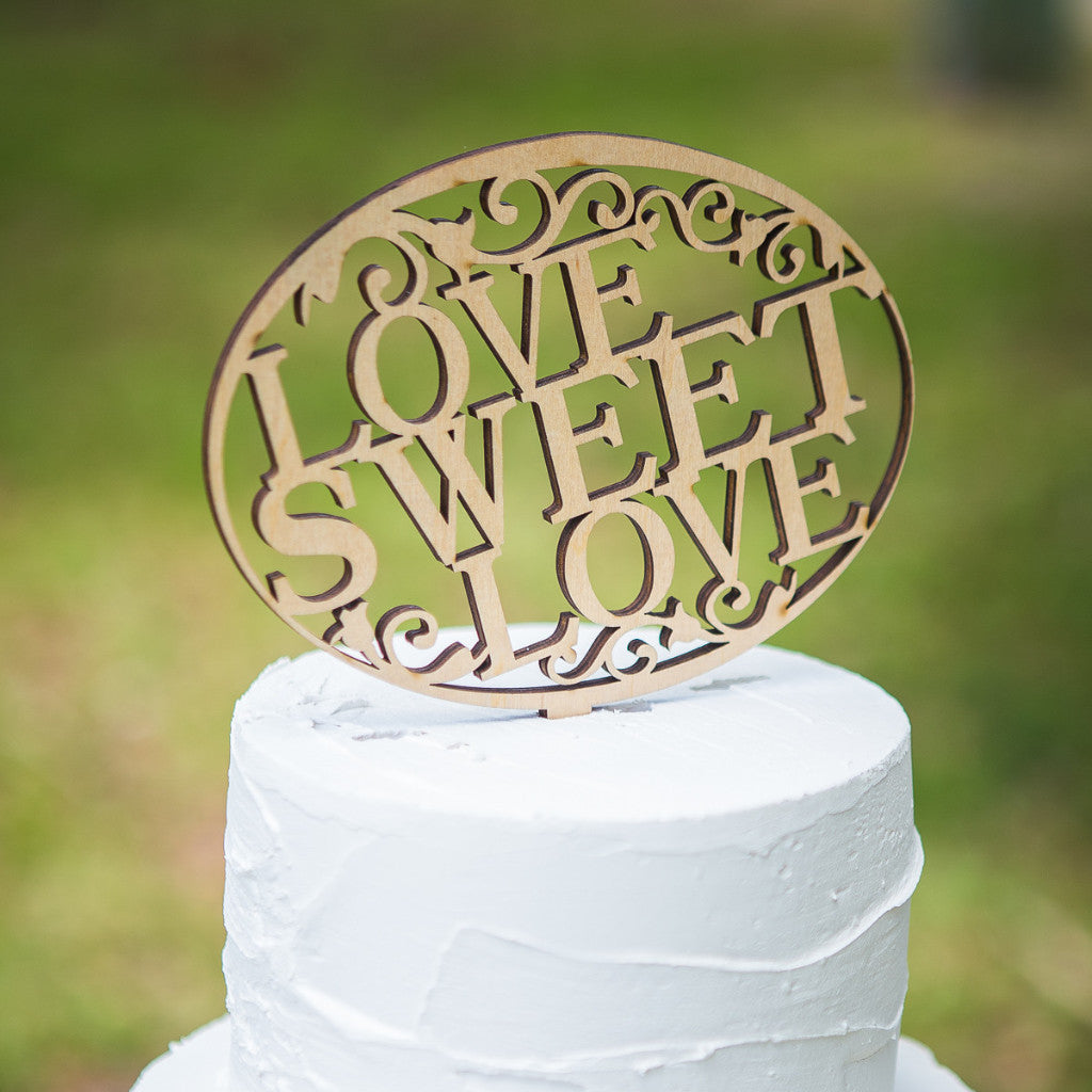 "Cake Topper for Wedding ""Love Sweet Love"" - Wedding Decor Gifts"
