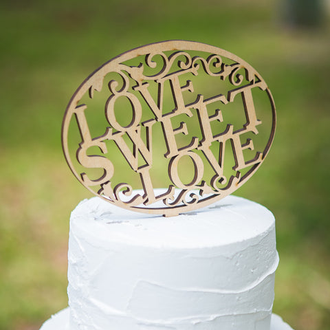 "Cake Topper for Wedding ""Love Sweet Love"" - Wedding and Gifts"