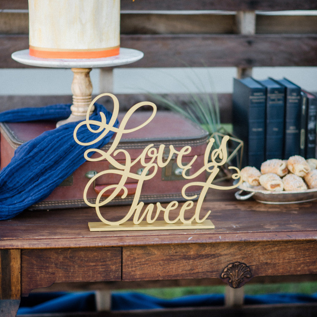 "Wedding Sign ""Love is Sweet"" - Wedding Decor Gifts"