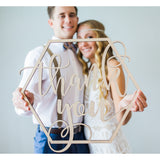"Wedding ""Thank you"" Sign - Wedding Decor Gifts"