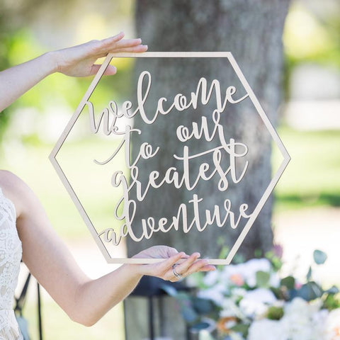 Boho Wedding Welcome Sign - Wedding Decor Gifts