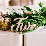 Word Table Number Word Signs - Wedding Decor Gifts