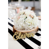 Table Number Words in Chunky Glitter - Wedding Decor Gifts