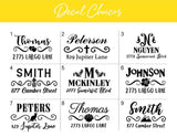 Mailbox Decal, Address Sticker Decal, House Number Decal