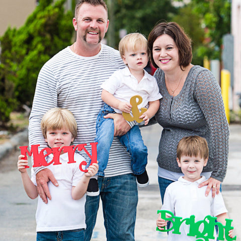 Merry & Bright Photo Prop Sign - Wedding Decor Gifts
