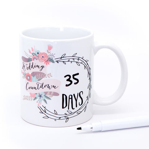 Wedding Mug Gift Set for Bride - Wedding Decor Gifts