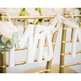 Mr & Mrs Rustic Chic Chair Signs - Wedding Decor Gifts