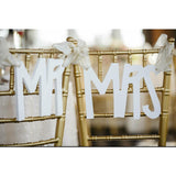 hanging signs, chair decor, wedding accessories
