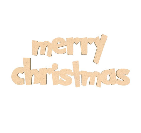 Wooden Merry Christmas Sign DIY Crafting Wooden Sign