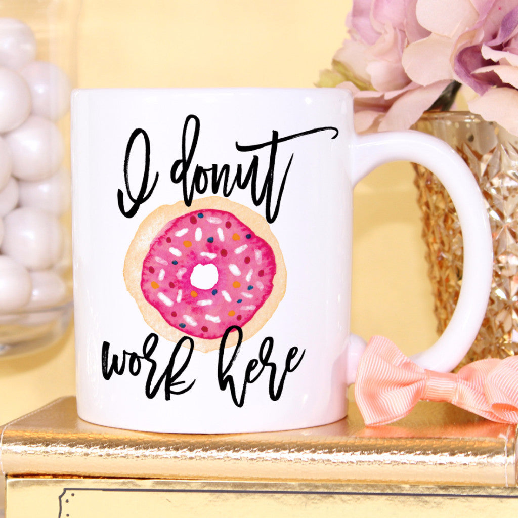 Donut Work Coffee Mug - Wedding Decor Gifts