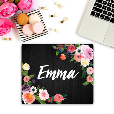 Personalized Name Mouse Pad - Wedding Decor Gifts