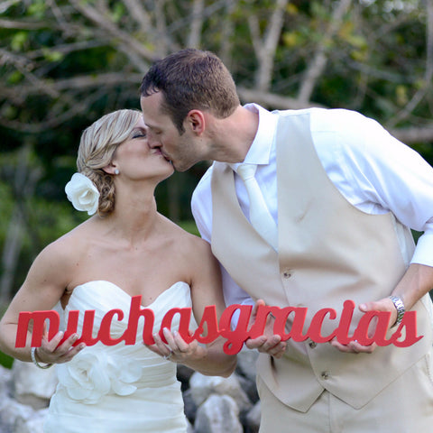 Muchas Gracias Sign Wedding Photo Prop - Wedding Decor Gifts